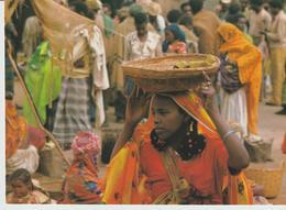 469-Folklore-Usi E Costumi-Tipi-Mestieri-Portatrice Di Cesta In Testa-Etiopia - Africa