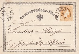 AUTRICHE 1871   ENTIER POSTAL CARTE DE GILLI - Stamped Stationery
