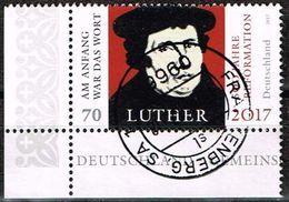 Bund 2017, Michel# 3300 O 500 Jahre Reformation - Martin Luther Eckrand - BRD
