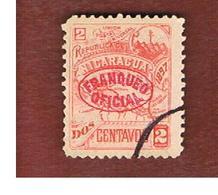 NICARAGUA - SG  O114    -    1897   OFFICIAL STAMPS: NICARAGUA MAP (OVERPRINTED)   -  USED° - Nicaragua