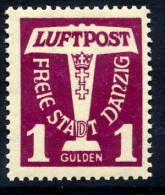 DANZIG 1935 Airmail 1 G. MNH / **.  Michel 255 - Danzig