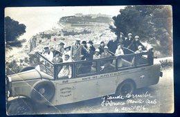 Cpa Carte Photo Monaco Monte Carlo Grande Corniche 4 Avril 1934 - Plm établissement Traffort Grenoble   Sept18-07 - Monte-Carlo