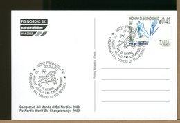 ITALIA - FDC  2003 - FIS NORDIC SKI - CAMPIONATI DEL MONDO SCI NORDICO -  VAL DI FIEMME - Ski