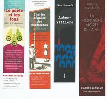 MARQUE PAGES ( LOT De 4) EDITIONS ARBRE VENGEUR - Bookmarks