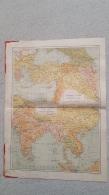 CARTE INDES ET CHINE TURQUIE ET CAUCASIE RUSSE  INDO-CHINE FRANCAISE RECTO VERSO  IMP  LEMERCIER  41 X 31 CM - Cartes Géographiques