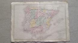 CARTE ESPAGNE ET PORTUGAL PAR DRIOUX ET LEROY  47 X 33 CM - Cartes Géographiques