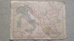 CARTE  ITALIE TURQUIE GRECE PAR DRIOUX ET LEROY  47 X 33 CM - Geographical Maps