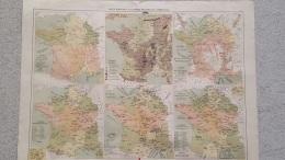 CARTE FRANCE ANALYTIQUES INDUSTRIELLE  ET COMMERCIALE RECTO VERSO 41 X 31 CM - Cartes Géographiques