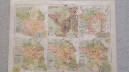 CARTE FRANCE ANALYTIQUES INDUSTRIELLE  ET COMMERCIALE RECTO VERSO 41 X 31 CM - Geographical Maps