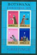 Botswana 1971 Xmas MS MUH - Botswana (1966-...)