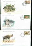 Botswana 1977 WWF,Fox, Otter, Hyena,Franlkin Mint (with Inserts) 3xFDC Lot79603 - Botswana (1966-...)
