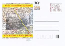 Rep. Ceca / Cart. Postali (Pre2014/41) Il Primo Collegamento Telefonico Tra Praga E Vienna (1889) - Geografia