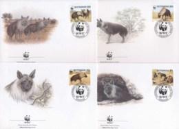 Botswana 1995 WWF Brown Hyena FDC - Botswana (1966-...)