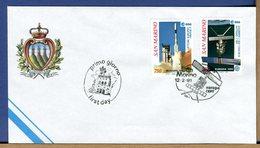 SAN MARINO - FDC 1991 - SATELLITE ERS-1 - SATELLITE EUROPEO PER L'AMBIENTE - ESA - Protezione Dell'Ambiente & Clima