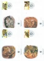 Botswana 2005 WWF Black Footed Cat 4xFDC Lot77061 - Botswana (1966-...)
