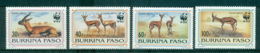 Burkina Faso 1993 WWF Red-Fronted Gazelle MUH Lot64019 - Burkina Faso (1984-...)