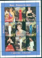 Burkina Faso 1997 Princess Diana In Memoriam, Sheer Elegance MS MUH - Burkina Faso (1984-...)