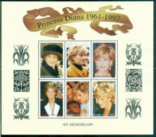 Burkina Faso 1998 Princess Diana In Memoriam, Never To Be Forgotten MS MUH - Burkina Faso (1984-...)