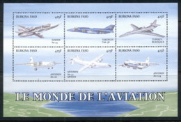 Burkina Faso 1999 World Of Aviation Sheetlet MUH - Burkina Faso (1984-...)