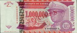 1.000.000 NOVOS ZAIRE -SPECIMEN -25-10-1996 - Specimen Nº.0709 - Zaire