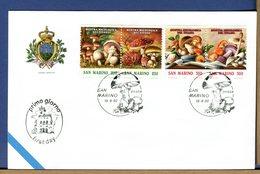 SAN MARINO - FDC 1992 - FUNGHI - BOLETUS - Funghi