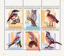 MDB-BK10-032-2 MINT ¤ MALI 2000 6w In Sheet ¤ -BIRDS OF THE WORLD -  OISEAUX - VOGELS - VÖGEL - SONGBIRDS - Uccelli Canterini Ed Arboricoli