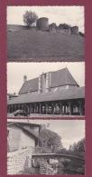 180918 - 3 PHOTOS 1963 - 01 CHATILLON SUR CHALARONNE église Des Halles Remparts Ruisseau Pont - Auto - Châtillon-sur-Chalaronne
