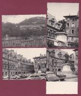 180918 - 4 PHOTOS 1963 - 38 GRENOBLE Palais De Justice Statue De Bayard Téléférique - Grenoble
