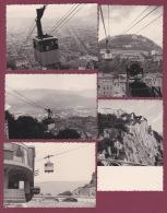 180918 - 5 PHOTOS 1964 - 38 GRENOBLE Vues Du Téléférique Jardin Des Dauphins - Grenoble