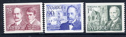 SWEDEN 1975 Nobel Prizewinners MNH / **.  Michel 932-34 - Sweden