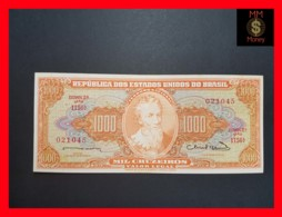 BRAZIL 1.000 1000 Cruzeiros 1963  P. 181   VF + - Brasil