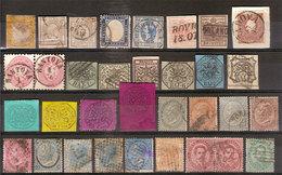(Fb).A.Stati+Regno.Lotto Misto Di 33 Valori Usati,alcuni Nuovi E Alcuni Firmati Al Verso (116-17) - Italie
