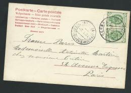 Russie , Carte Postale Affranchie Pour Paris En 1904   - Lo42706 - 1857-1916 Imperium