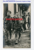 Env. ANTWERPEN-PRISONNIERS Anglais Et Belges-CARTE PHOTO Allemande-Guerre 14-18-1WK-BELGIEN-Westflandern- - Oorlog 1914-18