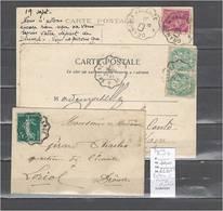 Lettres  Cachet  Convoyeur  Valence à Orange Et Retour - 3 Piéces Dont Une Indice 9 - Poststempel (Briefe)