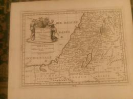 """1698 """"Nouvelle Carte De La Terre Sainte Pour Servir à L'intelligence De L'Ancien Et Du Nouveau Testament"""" Ogier Fecit - Cartes Géographiques"""