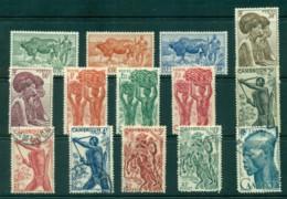 Cameroun 1946 Pictorials Asst MH/FU (14) Lot31386 - Cameroon (1960-...)