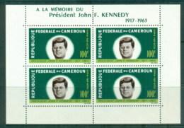 Cameroun 1964 JFK Kennedy In Memoriam MS MUH - Cameroon (1960-...)