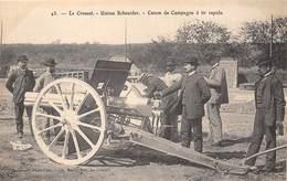 71-LE CREUSOT- USINE SCHNEIDER- CANON DE CAMPAGNE A TIR RAPIDE - Le Creusot