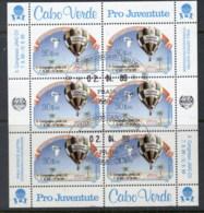 Cape Verde 1989 Hot Air Balloon Sheetlet CTO - Cape Verde