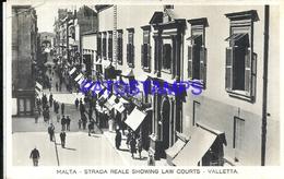 99686 MALTA VALLETTA STRADA REALE SHOWING LAW COURTS POSTAL POSTCARD - Malta