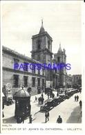 99688 MALTA VALLETTA EXTERIOR OF ST JOHN'S Co. CATHEDRAL POSTAL POSTCARD - Malta
