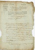 78. BAYONNE 18 FLOREAL AN7. 11è DIVISION MILITAIRE. LAS DU GENERAL MAUCO A L'ADMINISTRATEUR DU CANTON DE SALIES - Dokumente