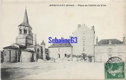 Marcillat - Place De L'Hotel De Ville - 1908 - Otros Municipios