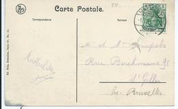 Zichtkaart Hautes Fagnes Met 5pf Germania - Afstempeling MALMEDY 1.7.11 - Marcophilie