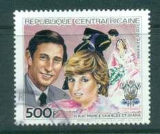 Central African Republic 1984 Anniversaries Diana 500f FU Lot44918 - Central African Republic
