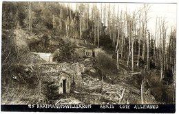 GUERRE 14 18  ABRIS COTE ALLEMAND   -  CACHET SOUVENIR FRANCAIS  HARTMANNS WILLERKOPF - Guerra 1914-18