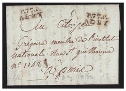 """FRANCE --TARN -1798- PORT PAYE D'ALBI -""""P.77.P./ALBY""""- LETTRE POUR PARIS --""""BONNET PHRYGIEN/ P.P."""" - Poststempel (Briefe)"""