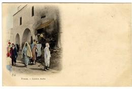 TUNISIE  CUISINE ARABE  -  CPA VERS 1900 - Tunisia
