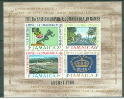 Jamaica: 1966   Eighth Commonwealth Games    M/S  MNH - Jamaica (1962-...)